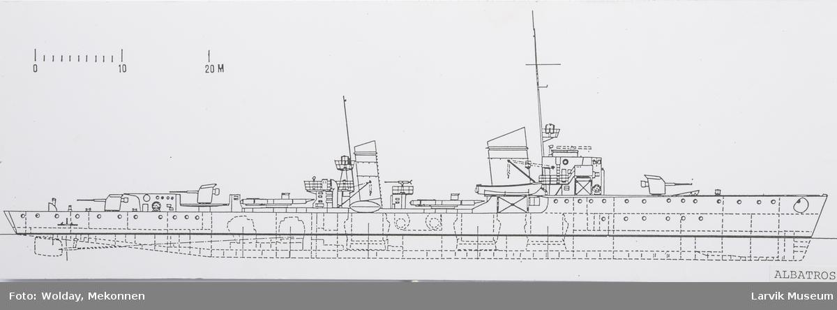 """Det tyske skipet """"Albatross"""" som 8.04.1940 kom i kamp med """"Pol III"""" i Oslofjorden"""