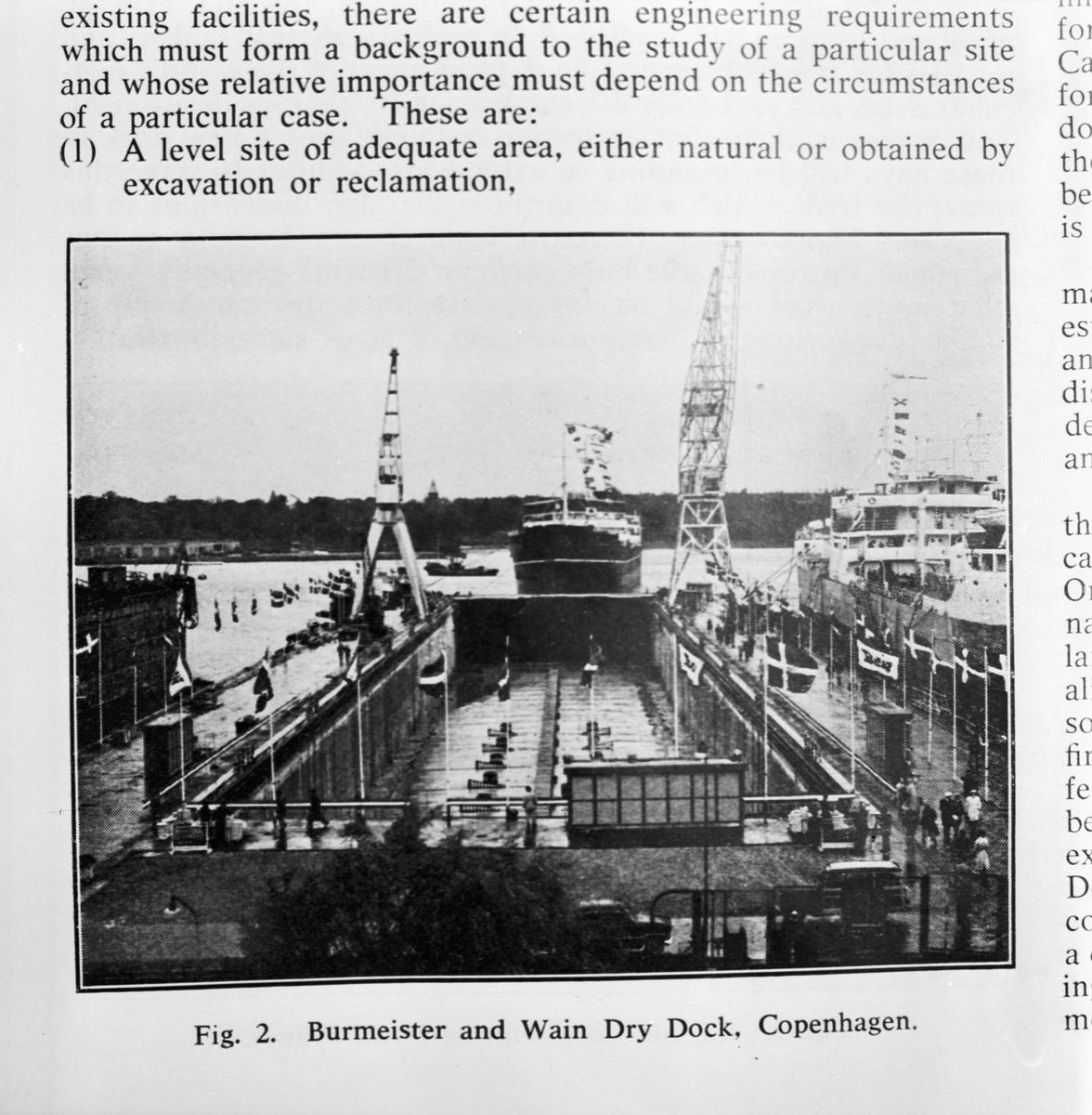 Övrigt: Foto datum: 31/7 1958 Byggnader och kranar Tidskrift
