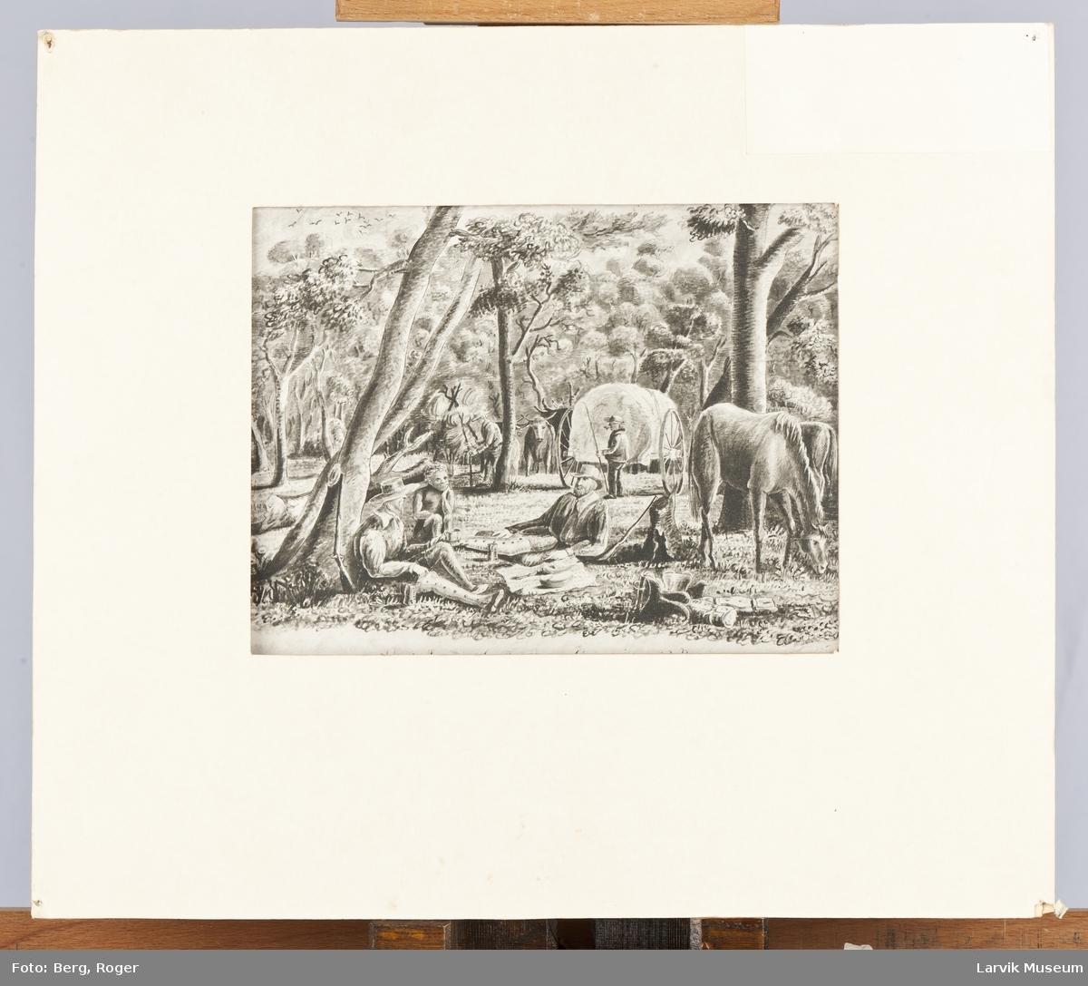 Sketches of the Bush. Camping at Noon