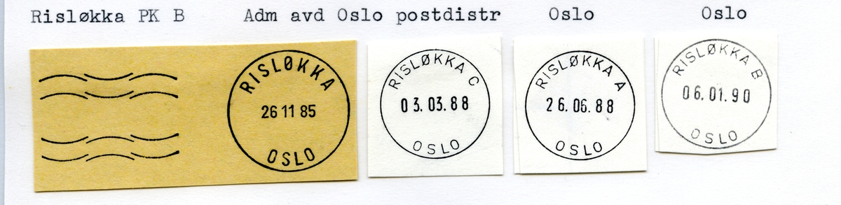 Stempelkatalog Risløkka, Oslo 5, Oslo