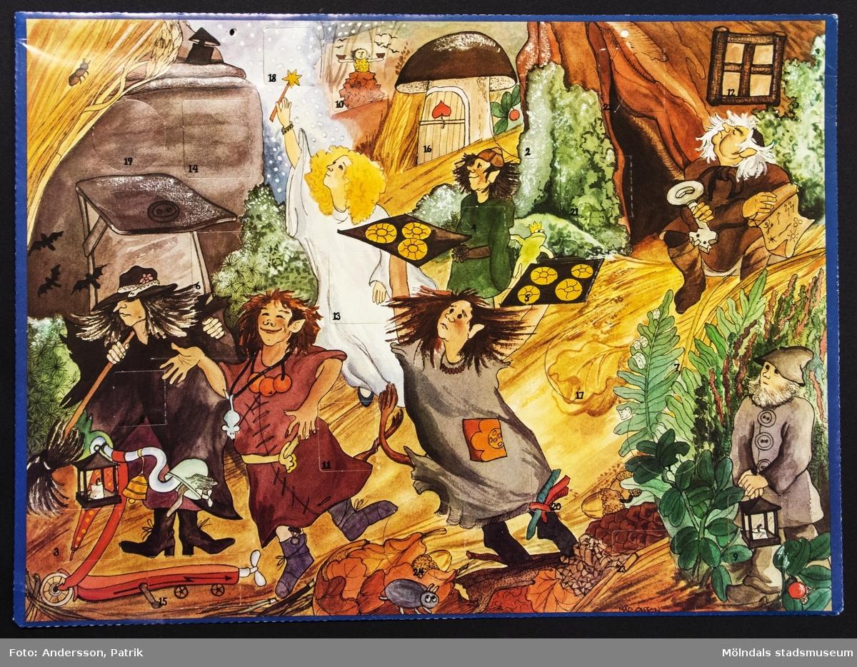 Sveriges Televisions julkalender: Trolltider, som sändes i SVT mellan den 1 - 24 december 1979. Motivet på kalendern är tecknat av Måd Olsson-Wannefors.
