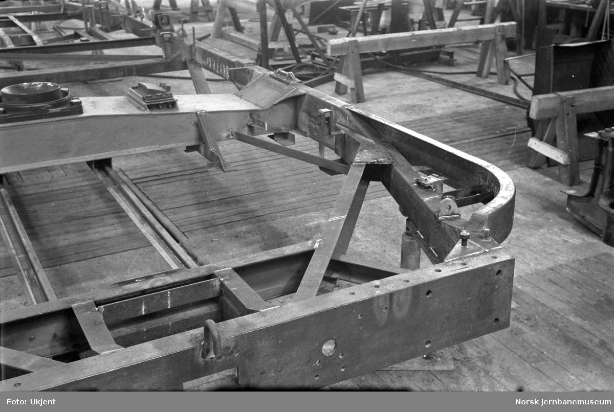 Ramme til elektrisk motorvogn litra Cmeo type 105c (BM 65C) på Skabo Jernbanevognfabrik
