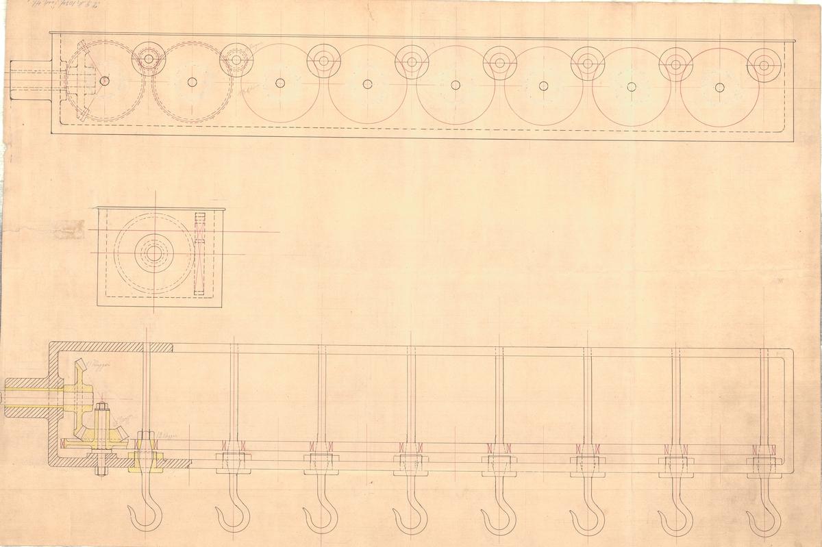 Detaljritning å slagningsmaskin å repslagarebanan