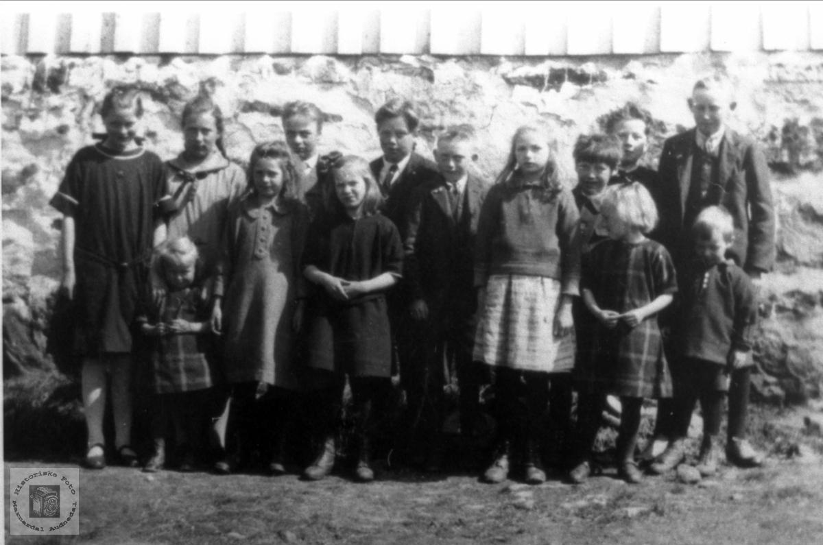 Skolebilde Bruvatne fra ca 1928