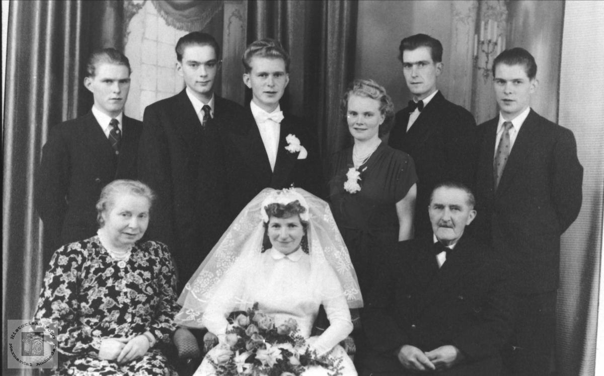 Bryllupsbilde/ familiebilde