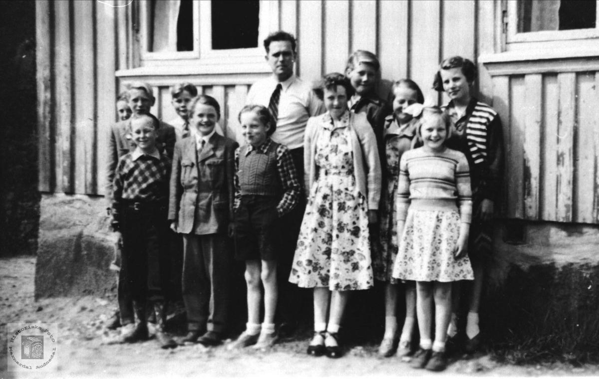 Skoleklasse på Breland