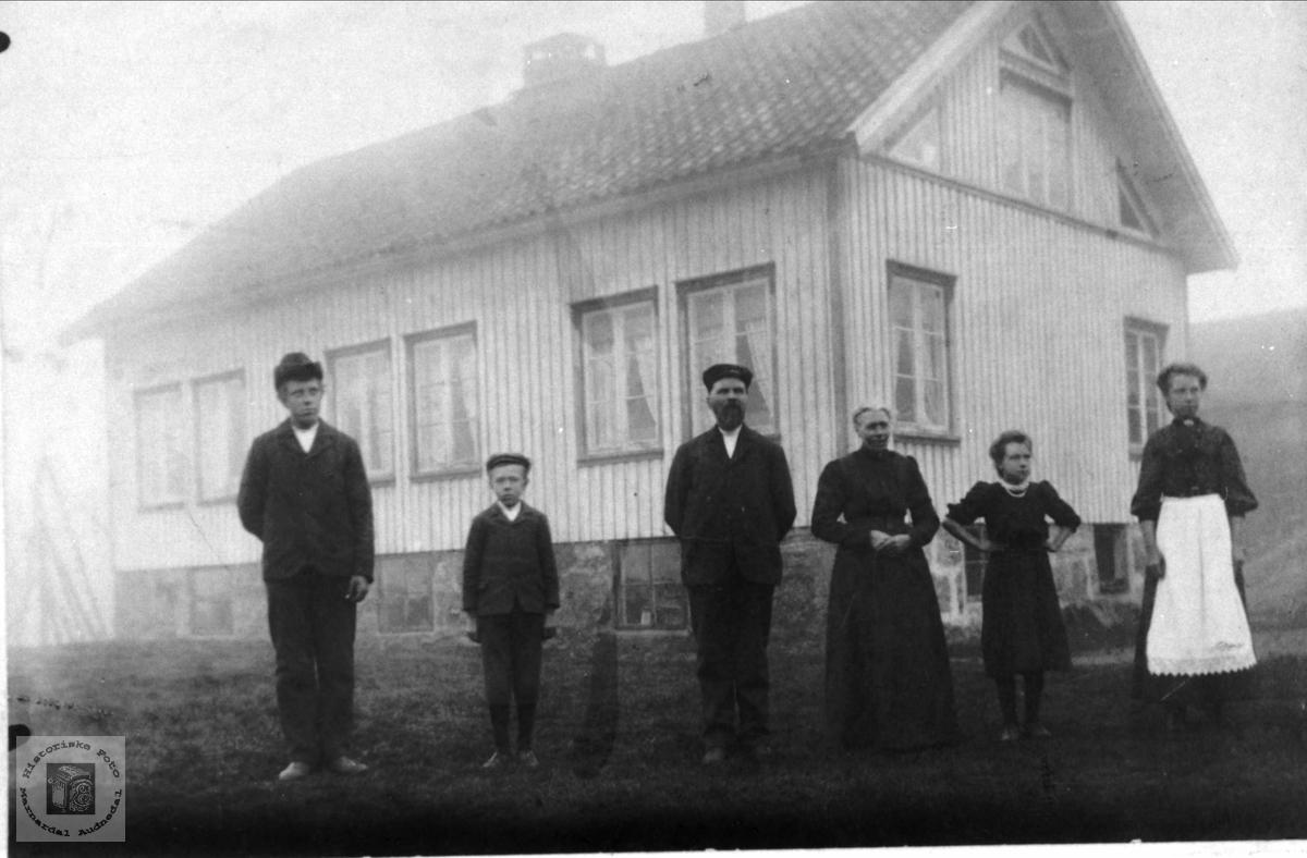 Familiegruppe på Sløgedal