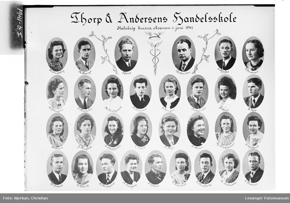 Skolebilde Thorp & Andersens Handelskole halvårig kurs.