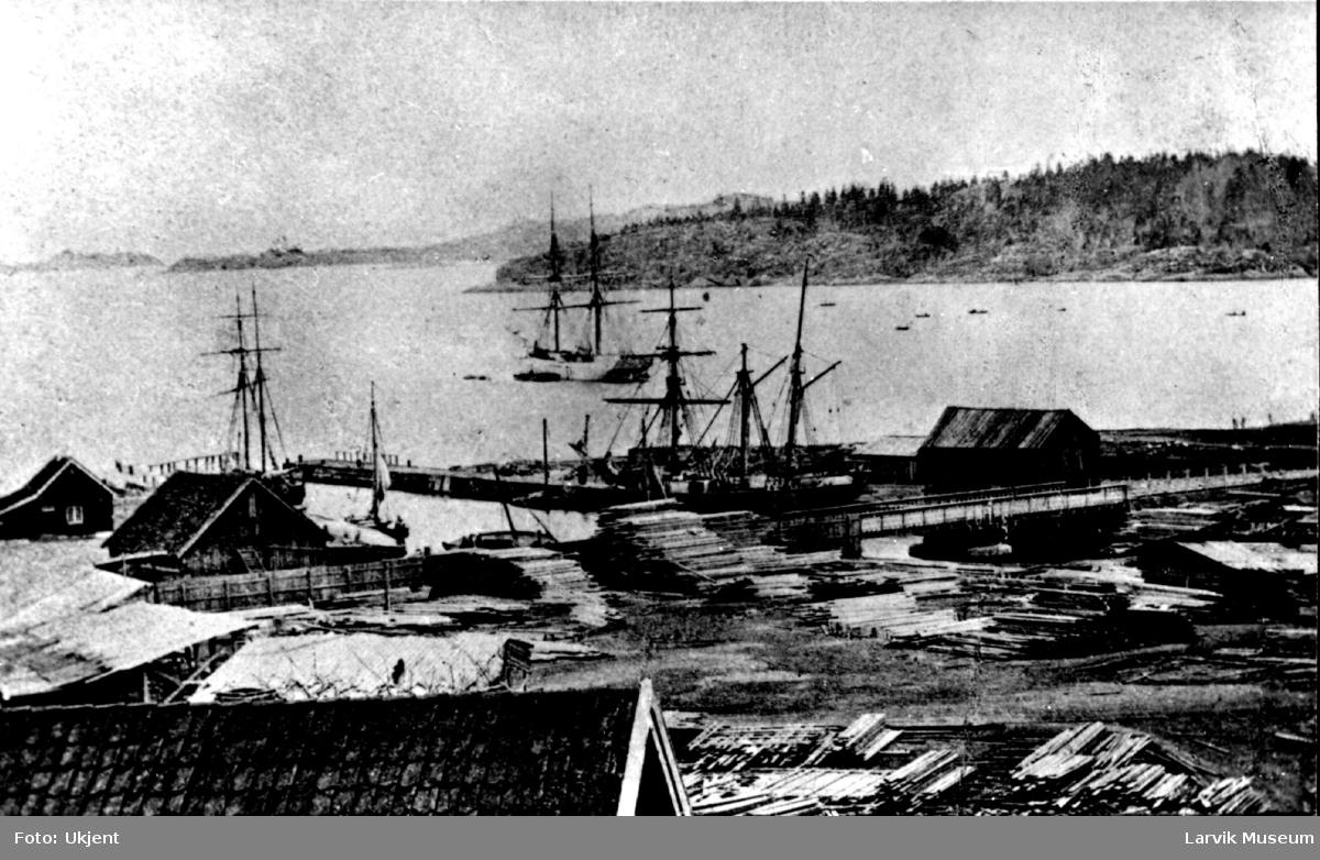 havnemotiv, trelasttomt, Langestrandsbroen