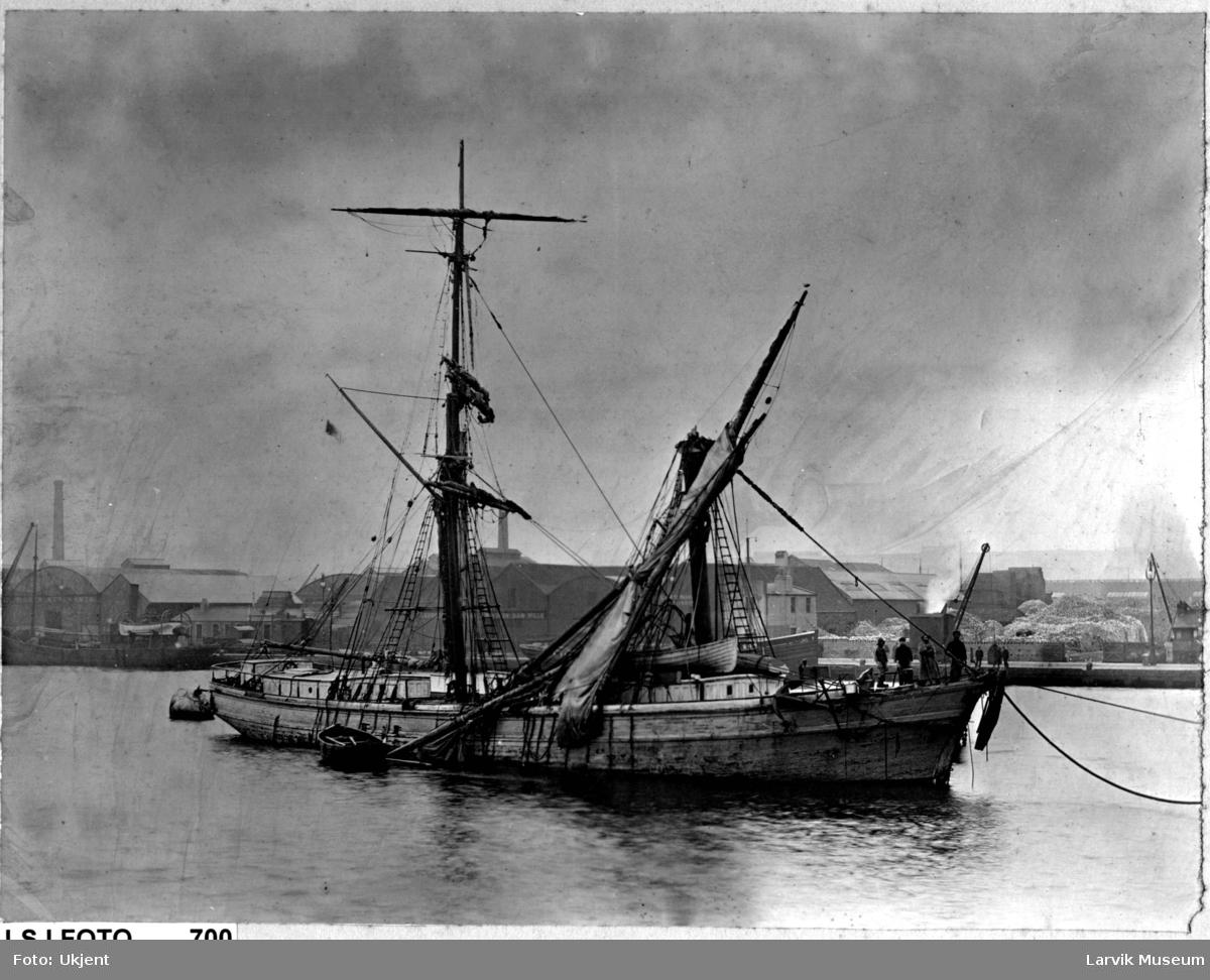 Fartøy, seilskip, briggen Sterling av Larvik.