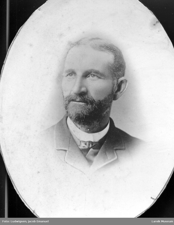 portrett, mann, kaptein Carl Johan Hansen Bjerkholdt