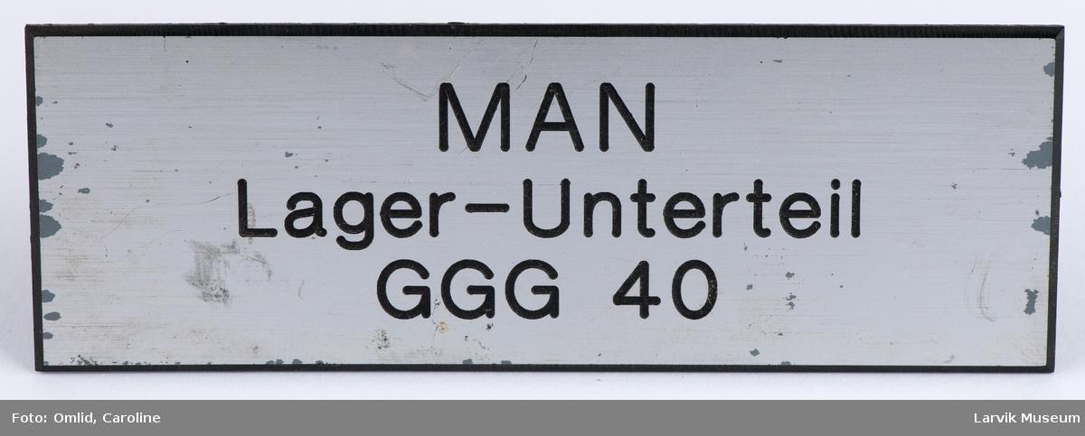 MAN Lager-Unterteil GGG 40