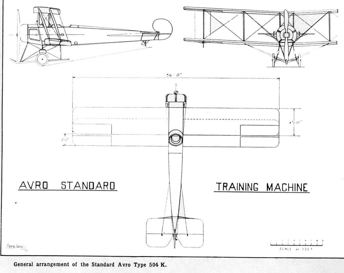 Treplanskisse, Avro Standard Type 504 K