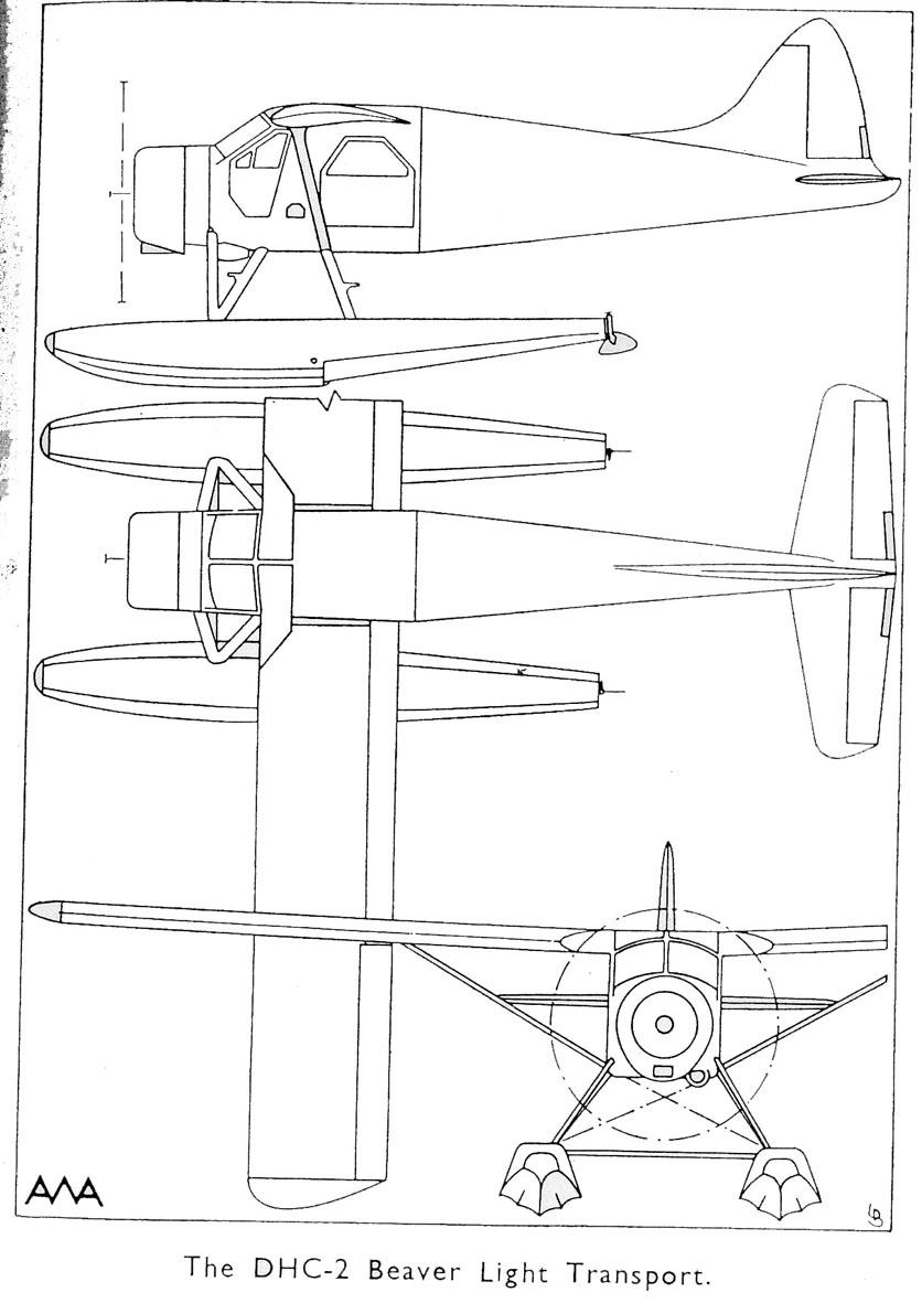Treplanskisse, DHC-2 Beaver Light Transport.