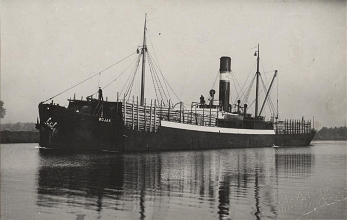 Lastångfartyget BOJAN av Simrishamn.