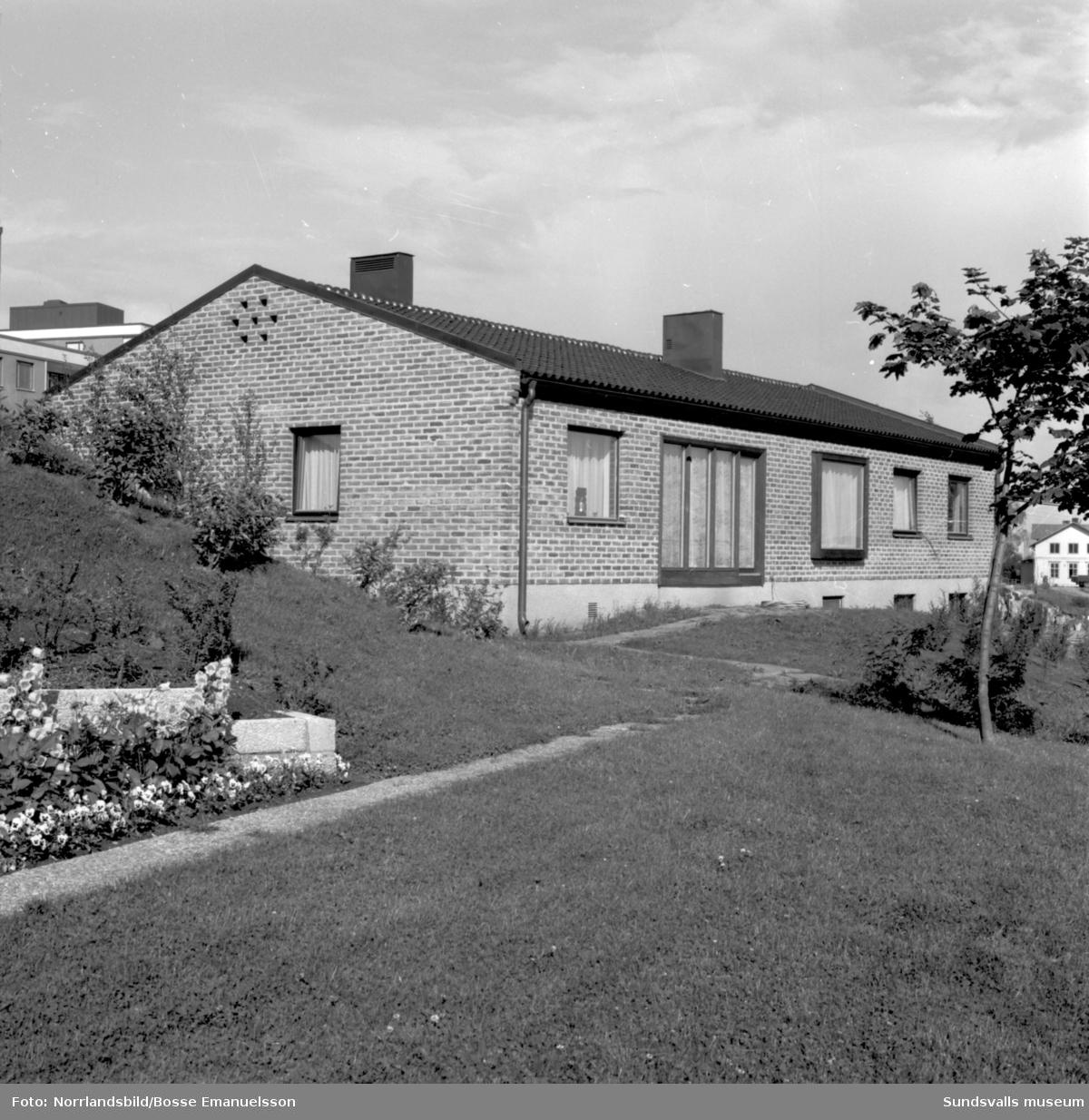 Villa på Basgränd 8, kvarteret Solhöjden i Skönsberg.