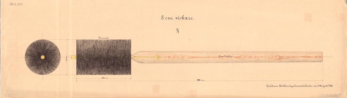 8 cm viskare