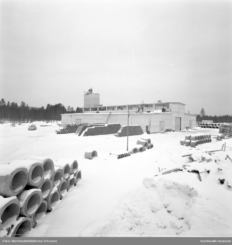 Exteriörbilder av cementgjuteriet i Bergeforsen.