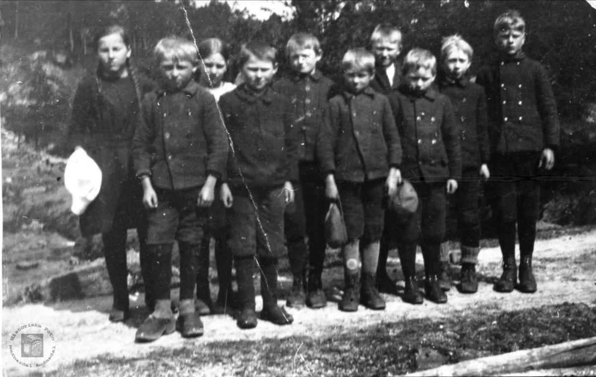 Skoleklasse på Eikså