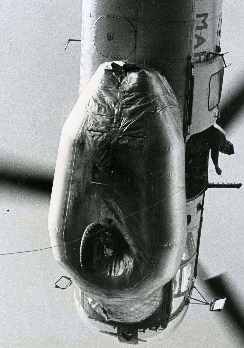 Helikopter Marinens övning.