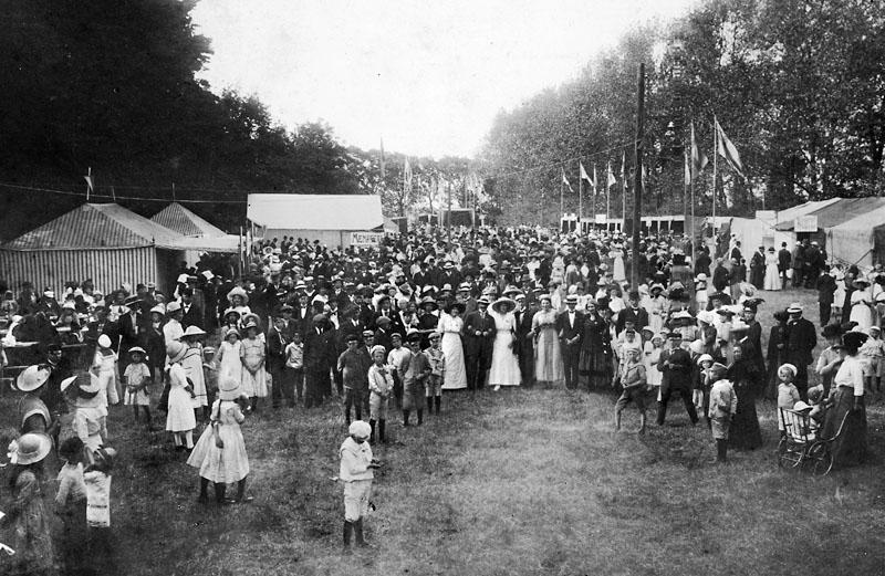 Liljeborgsparken, basar 1913