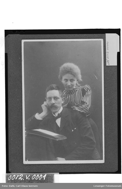 Carl Olaus Iversen Dahl og forloveden Mary Hutchinson