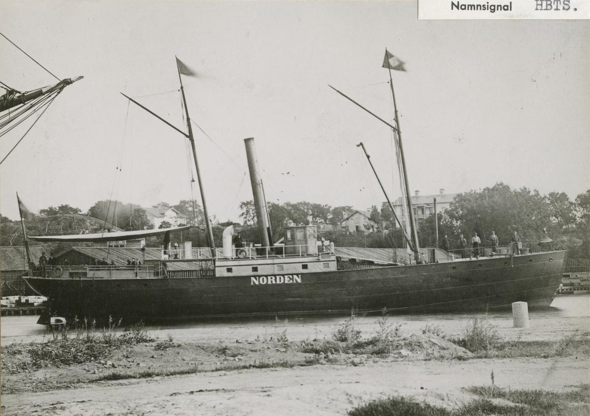 Nordens bolags första ångare år 1858