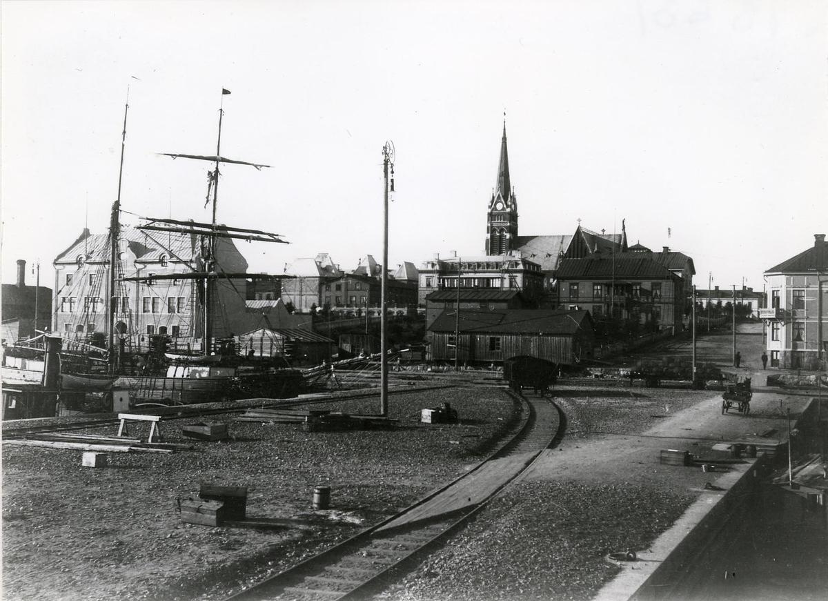 Luleå hamn på 1890-talet.
