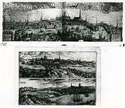 Stockholm på 1500-talet. Kopparstick av Franz Hogenberg. A.