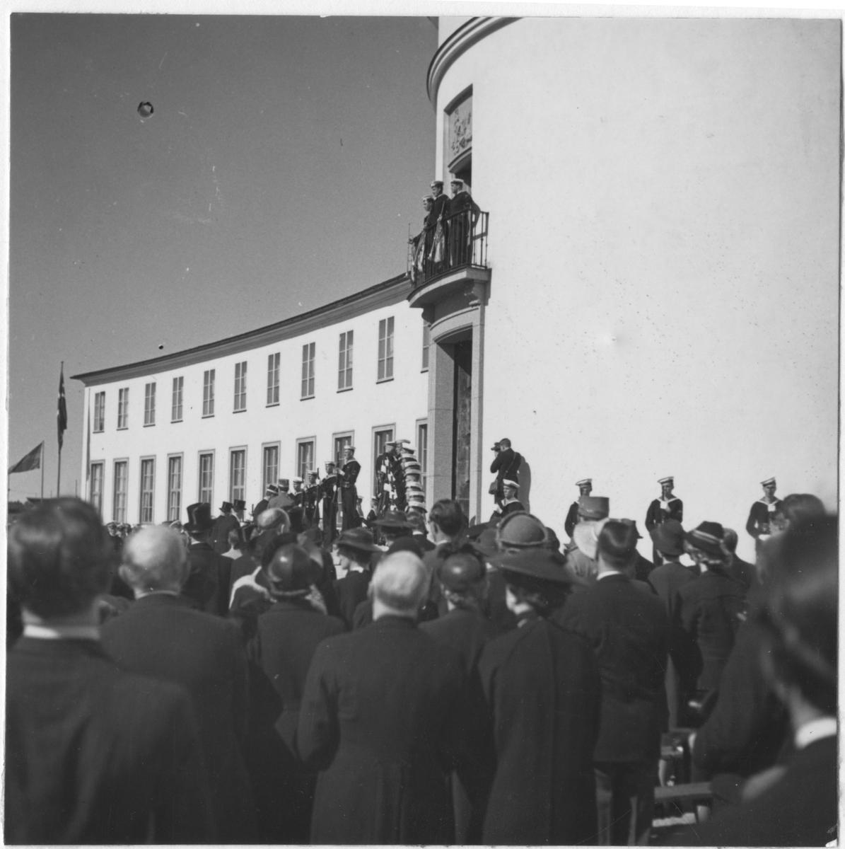 Invigningen av Sjöhistoriska museet 28 maj 1938.