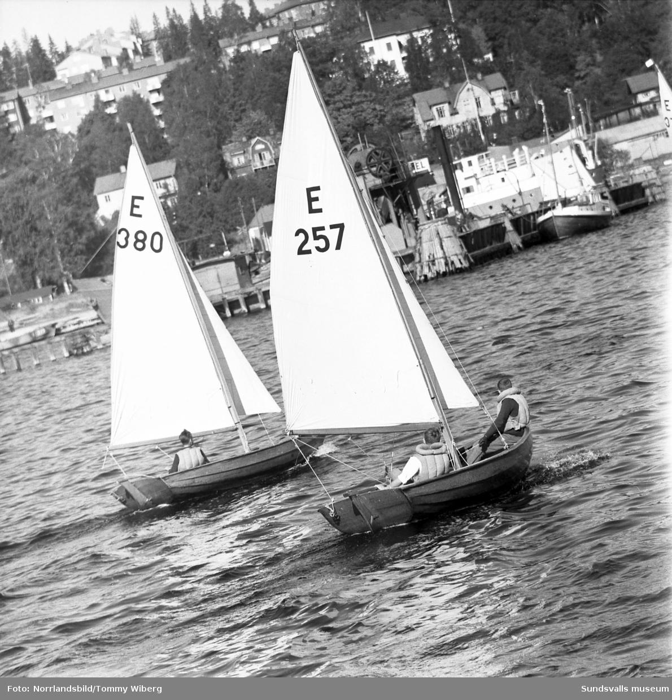 Seglingsregatta i Sundsvalls hamn.