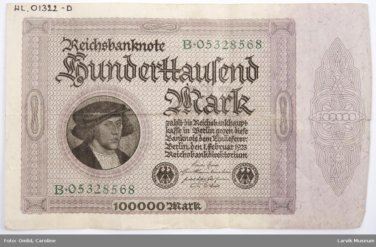 100.000 tyske mark
