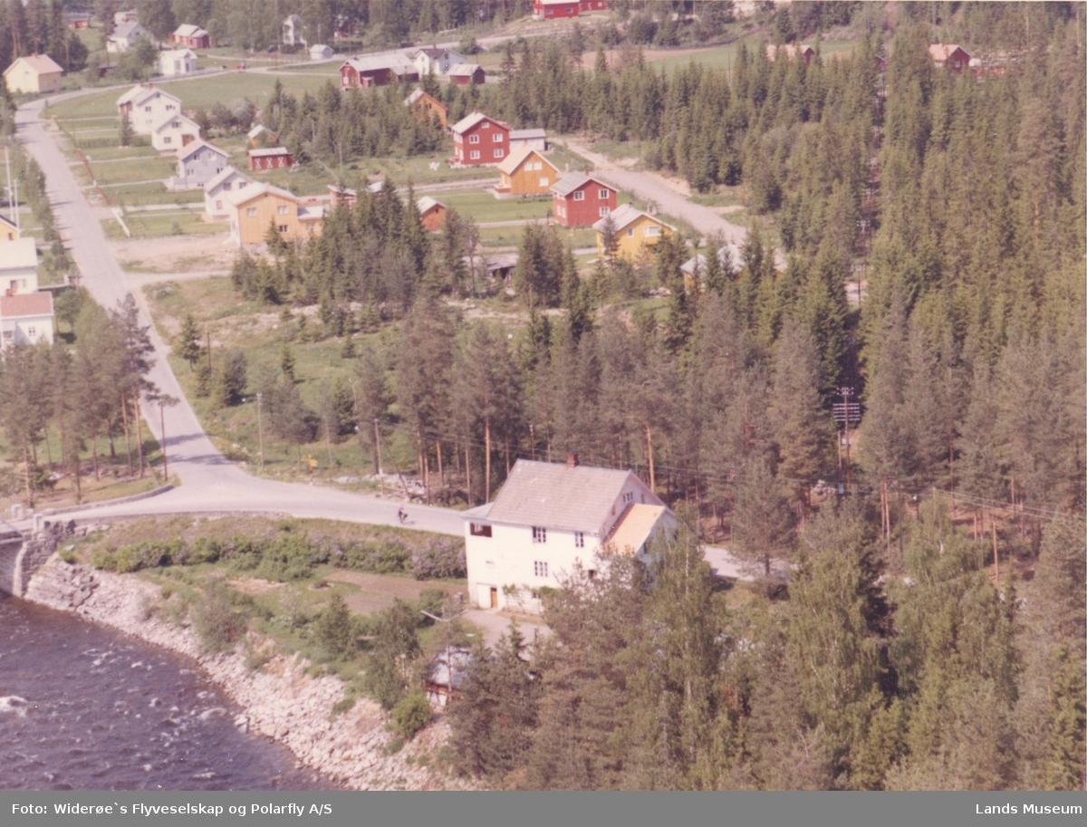 Flyfoto Dokka bru vegkryss Torpavegen