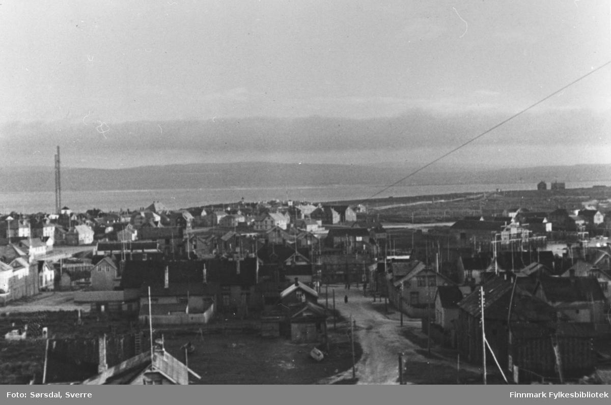 Bildet over Vardø by 1934. Oversiktsbildet.