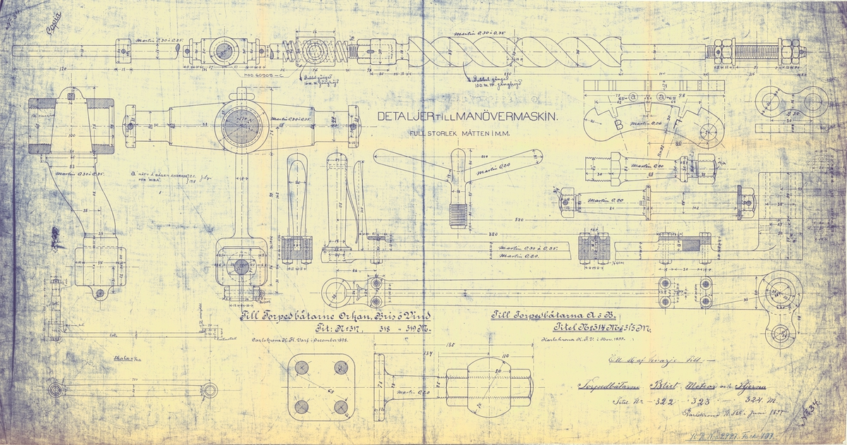 Detaljer till manövermaskin