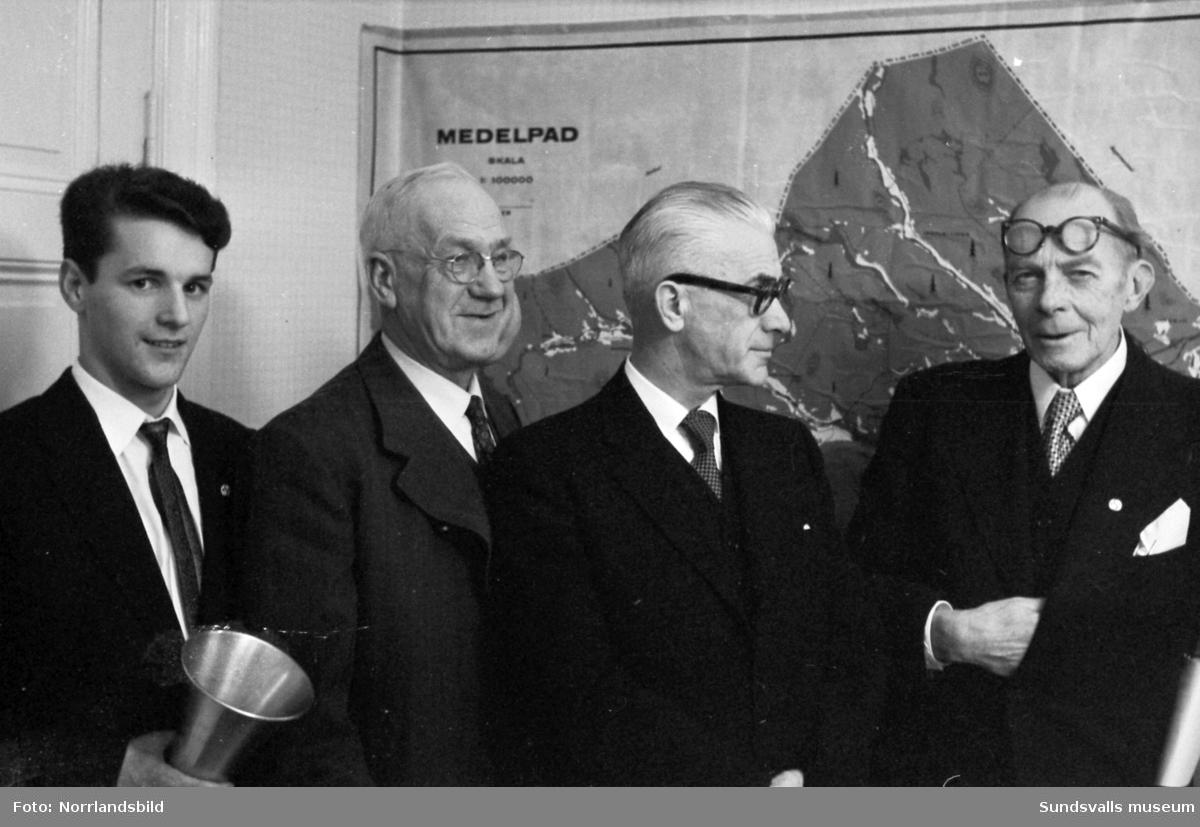 Sundsvalls slalomklubbs årsmöte 1958.