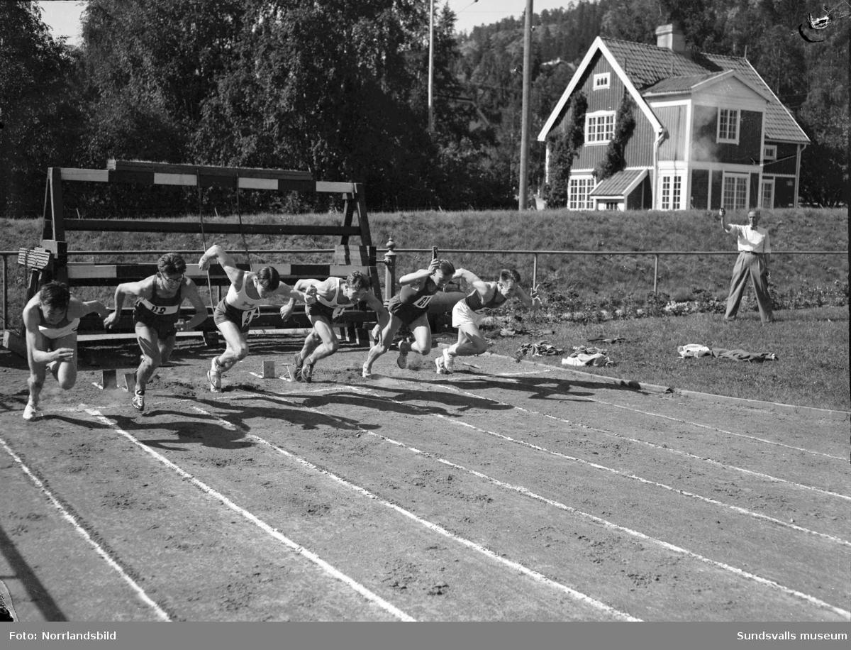 Jämtland vann triangelkampen i friidrott i Idrottsparken.