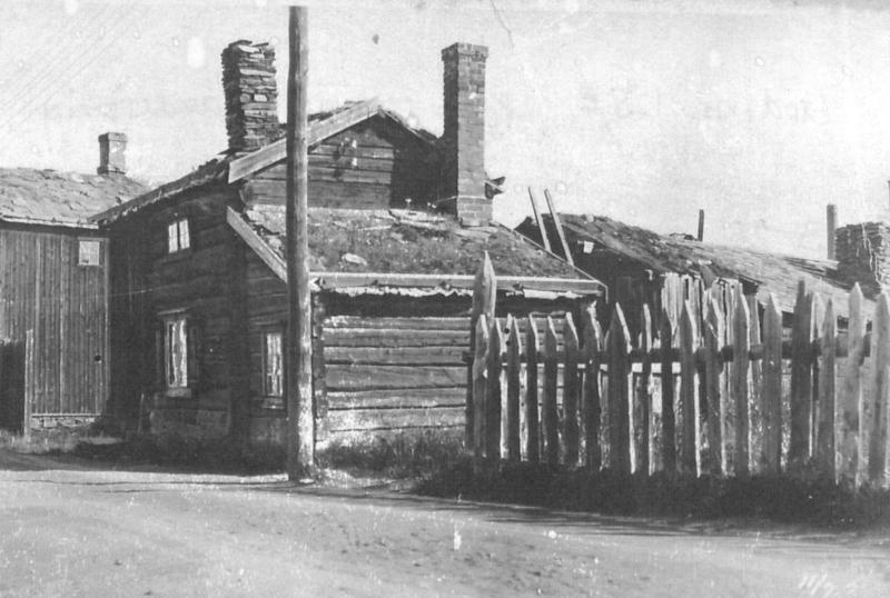 Persstuggu på sin opprinnelige plassering på Nedre Flanderborg i 1907.