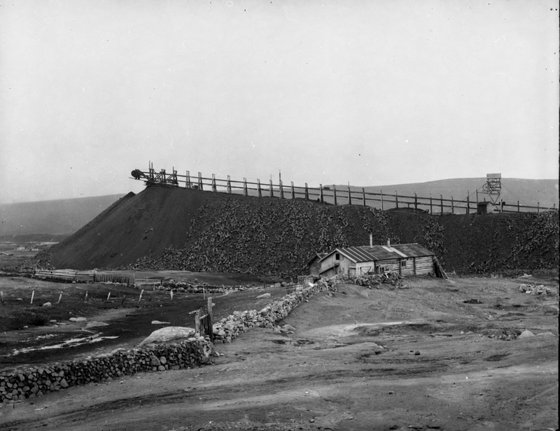 Slaggbanen tidlig på 1900-tallet.