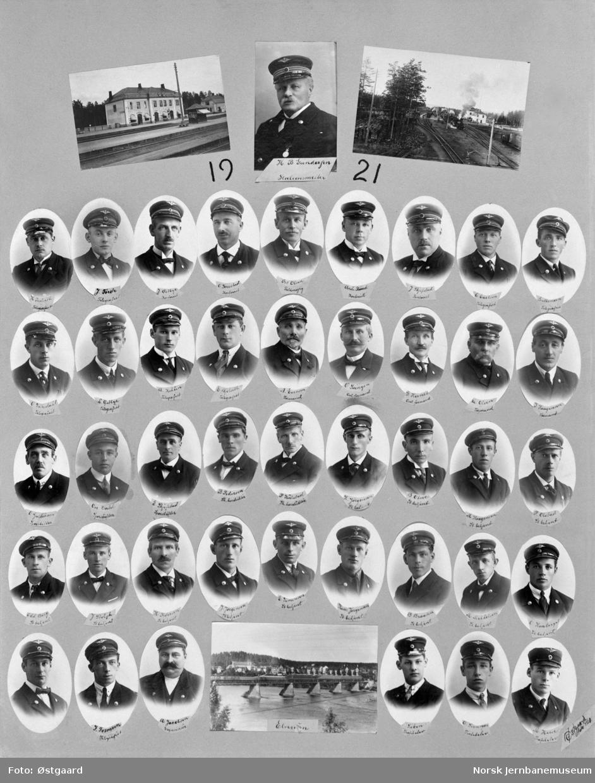 Fotomontasje med ansatte ved Elverum stasjon