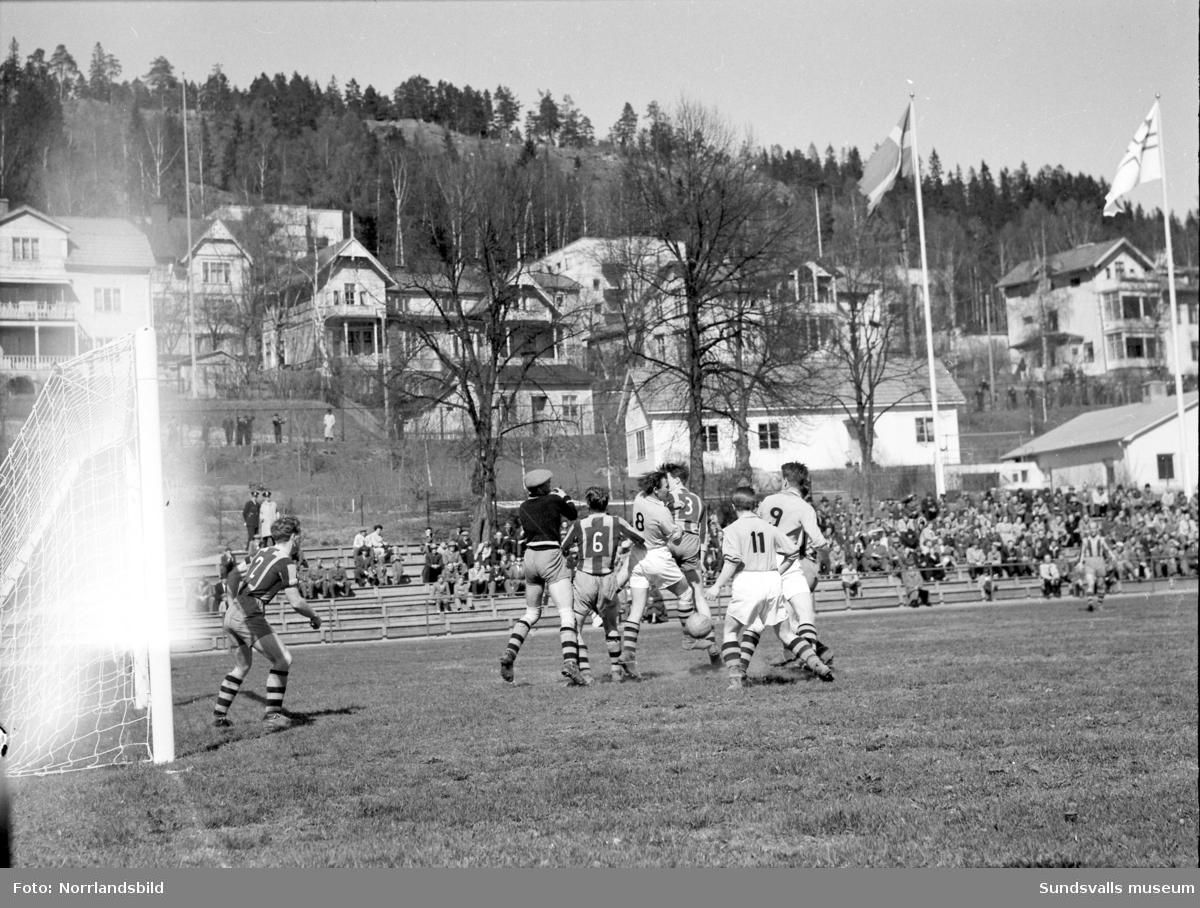 Fotbollsmatch, GIF Sundsvall-Kubikenborg.
