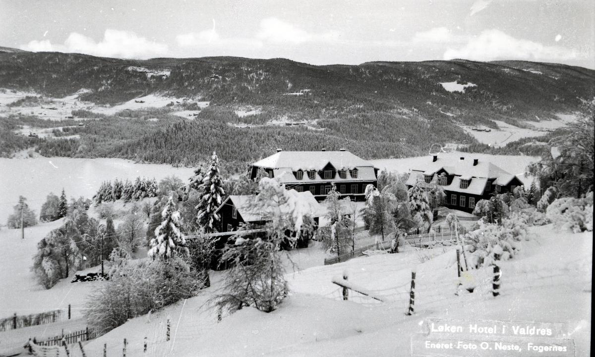 Bygninger på Løken hotell i Vestre Slidre