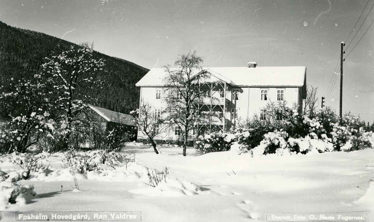 Hovedbygningen på Fossheim gard, tidligere skysstasjon