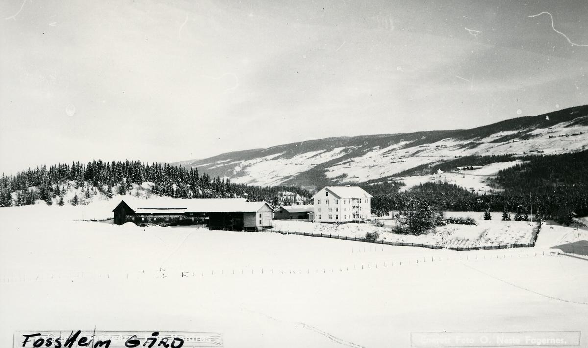 Bygninger på Fossheim gard i Vestre Slidre