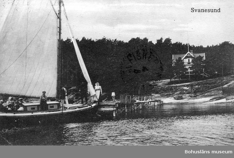 """Text på kortet: """"Svanesund""""."""