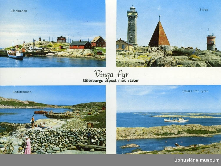 "Vykort ""Vinga fyr - Göteborgs utpost mot väster"""