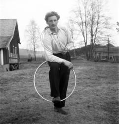 Reportagebilder av lindansaren Sture Källman, alias Max Morr