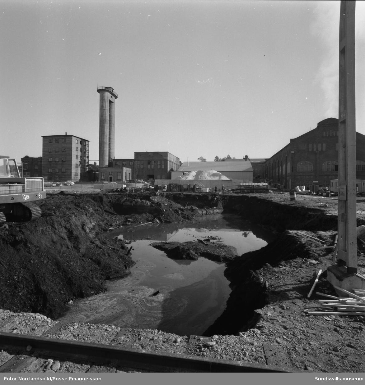 Gullhögens mineralullsfbrik i Söråker.