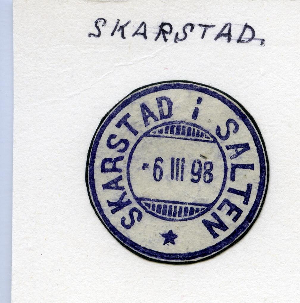 Stempelkatalog  Skarstad, Ballangen kommune, Nordland (Skarstad i Salten)