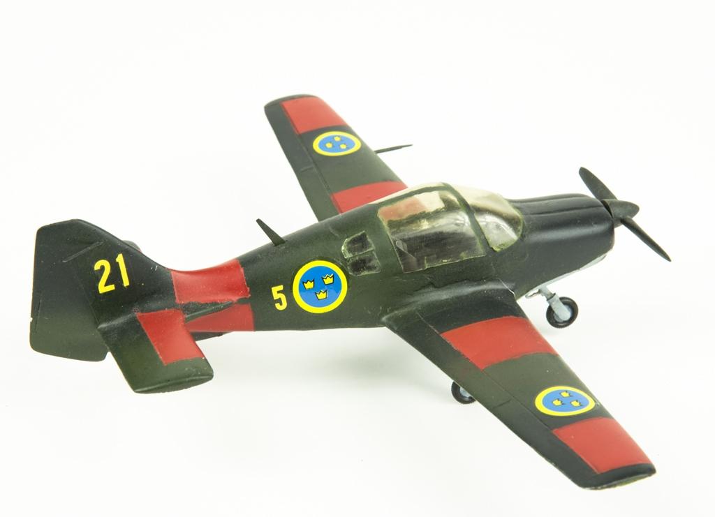 Flygplansmodell av Sk 61 Scottish Aviation Bulldog.